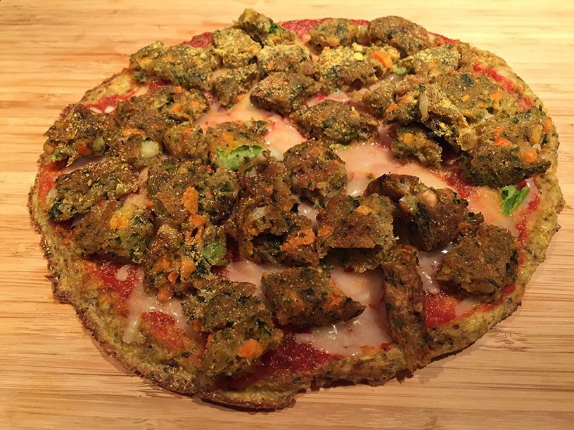 Vegetarian Cauliflower Crust Pizza